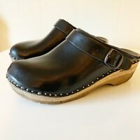 Troentorp Women's Shoes Clogs Black Leather Johansson Size 40
