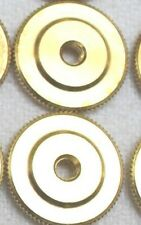 Large Brass Insignia Screw Back Nut 5/8 in 16mm dia 40 thread Lot of 2 pcs