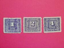 #J6-J8 (U,MH,MH)  1c to 4c dark violet Second Postage Due Issue (1930-32) CV=$15