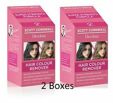 2X Scott Cornwall Hair Dye Remover Extra Strength Hair Colour Remover - SAVE £9