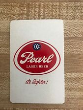 Pearl Lager Beer Playing Card Joker