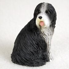 Bearded Collie dog Figurine Hand painted Miniature Sm Mini Statue Beardie puppy