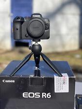 Canon EOS R6 Mirrorless Digital Camera Body 20 MP Full-Frame. Extra batteries.