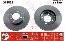 TRW Juego de 2 discos freno 240mm 240,5mm ventilado ROVER MG AUSTIN DF1829