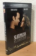 SLEEPLESS IN SEATTLE (DVD, 2003) 10th ANNIVERSARY EDITION with INSERT ~ WS/FS