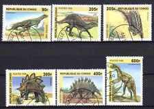 Animaux Préhistoriques Congo (7) série complète 6 timbres oblitérés