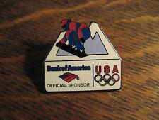 Olympic Snowboard Pin - Bank Of America USA Winter Olympic Games Lapel Hat Pin