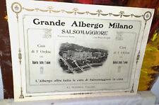 SALSOMAGGIORE  Grande Albergo Milano F.lli Ferrario  pubblicità primi 900