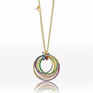 Diamonds,Rubies,Emeralds,Sapphire & Colored Stones Set into 14K Yellow Gold Over