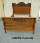 62376 Antique Victorian Full Size Oak Bed