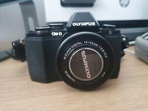 Olympus OM-D E-M10 Mirrorless Camera with 14-42mm EZ Lens - Black - S/C 1189