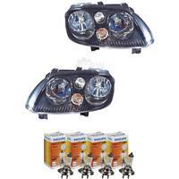 Scheinwerfer Set VW Touran Typ 1T Bj. 01.2003-2006 schwarz H7+H7