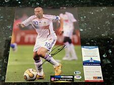 ZINEDINE ZIDANE SIGNED 11X14 PHOTO REAL MADRID SIGNED BAS COA PSA COA (2
