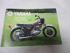 Yamaha TX750  owners manual 1974   TX750A