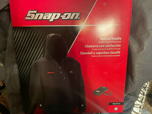 New Snap-on Heated Hoodie Small Sweatshirt Power Pack With USB Ports Size Large