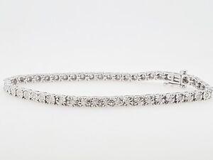 Ladies Diamond Bracelet: Michael Hill Jeweller 10ct WG Preloved  VAL $1700