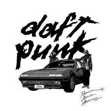 Parche imprimido, Iron on patch, /Textil sticker, Pegatina/ - Daft Punk