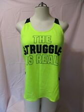 VICTORIA'S SECRET ~ PINK ~ SHIRT ~ THE STRUGGLE IS REAL ~ TANK TOP ~ SMALL ~ NEW