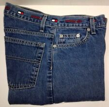 N42 Vintage Tommy Hilfiger Tommy Girl Jeans Womens Sz 1/32 Spell Out 27W x 32L
