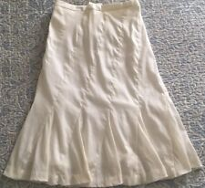JCREW Fluted Skirt In Stretch Linen Size4 F2202