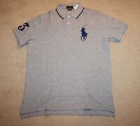 New Polo Ralph Lauren Big Pony Custom Fit Gray Shirt Large