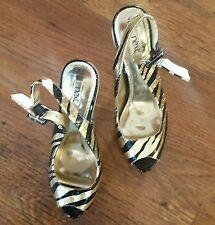 XX SALE XX - NEXT- Low Platform -  Cuban Heel -  Leather - Size 4.5 (1/2) -  NEW