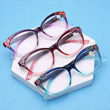 Fashion Women Cat eyes Reading glasses Florals reader +1.0 1.5 2.0 2.5 3.0 3.5 0