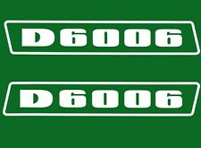 DEUTZ d6006 autocollant logo emblème autocollant label blanc.