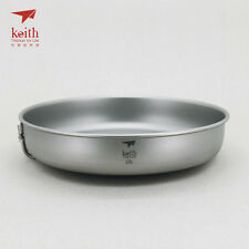 Keith Titanium Ti6034 Fry Pan with Folding Handle- 33.8 fl oz (Shipped from USA)