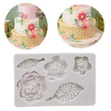 3D Knit Flower Silicone Mould Fondant Chocolate Sugarcraft Mold Cake Decor Tool
