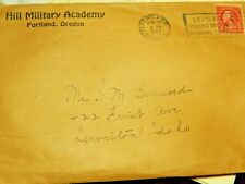 Hill Military Academy 1927 Statements Vintage 2 cent stamped letter