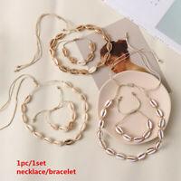 Muschel Halskette Armband Set Natur Muschel Charm Schmuck Halskette Set