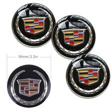 4x 56mm Car Wheel Center Hub Caps Emblem Badge Decals Sticker For ATS CT6 CTS