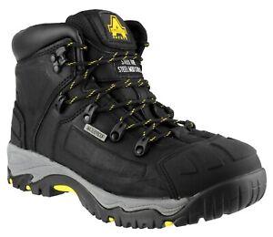 Amblers Mens Safety Boots FS32 Waterproof Black Steel Toe Cap Shoes UK3-15