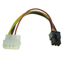 4Pin Molex to 6Pin PCI-Express PCIE Video Card Power Converter Adapter Cable #fg