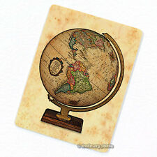 Earth Globe #4 Deco Magnet, Decorative Fridge Terrestrial Sphere World Map