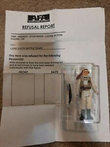 Rejected By AFA STAR WARS ESB Kenner Figure of hoth Luke Skywalker Refusal