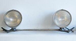 Hupmobile Series M 1928-1929 Head lamp set with bezel glass reflector & bracket