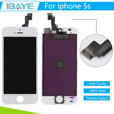 For iPhone 5S White LCD Screen Digitizer Display Touch Assembly Replacement