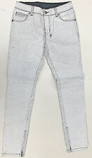 ksubi Jeans 'SPRAY ON CRACK WHITE' Paint Bake Size 24 NEW RRP $399 Womens