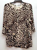 CHICOS ZENERGY Size 2 Leopard Cheetah Rayon Tunic Top