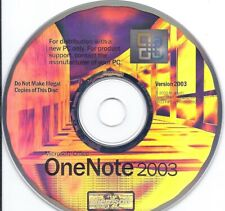 Microsoft Office OneNote 2003 install CD with original Product Key