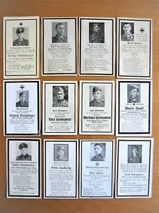 Orig.Sterbebild 2.WK, Konvolut 12 Soldaten mit Uniform, gute Erhaltung, rar