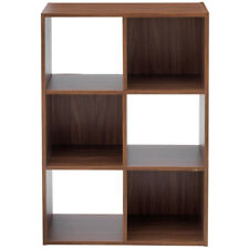 BOXX - 6 Square Cube Storage Shelf Unit / Display Shelves - Walnut ZAS011063556