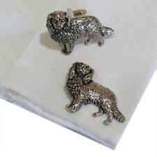 Quality Cufflinks Handmade in England Silver Pewter Spaniel Dog High