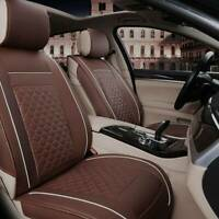 Universal Front Seat Cover Cushion Breathable PULeather Car Seat Pad Brown