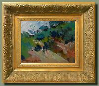 JOSE TRUJILLO - SIGNED CANVAS MODERN HILLSIDE Oil Painting FRAMED IMPRESSIONIST