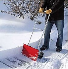 Snow Pusher Snow Shovel With Wheels Steel Handle Snow Shovel Snowplough