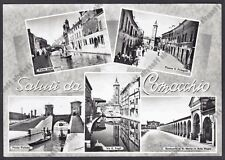 FERRARA COMACCHIO 18 SALUTI da... VEDUTINE Cartolina FOTOGRAFICA