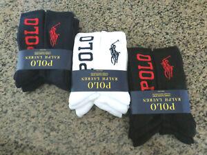 Polo RALPH LAUREN Six (6) Pairs Classic Sport Men's Big Pony Crew Socks